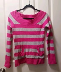 OP Medium pink and gray sweater front pocket Colorado Springs, 80918