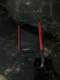 black and red candybar phone 26 mi