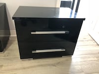 black wooden 3-drawer chest Sudbury, P3C 5J2