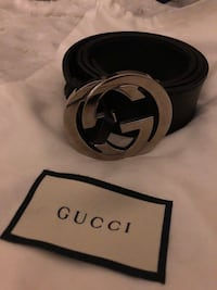 Gucci GG Classic Black leather belt MINT condition authentic  Toronto