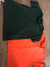 Orange and green polo shirts Huntsville, 77320