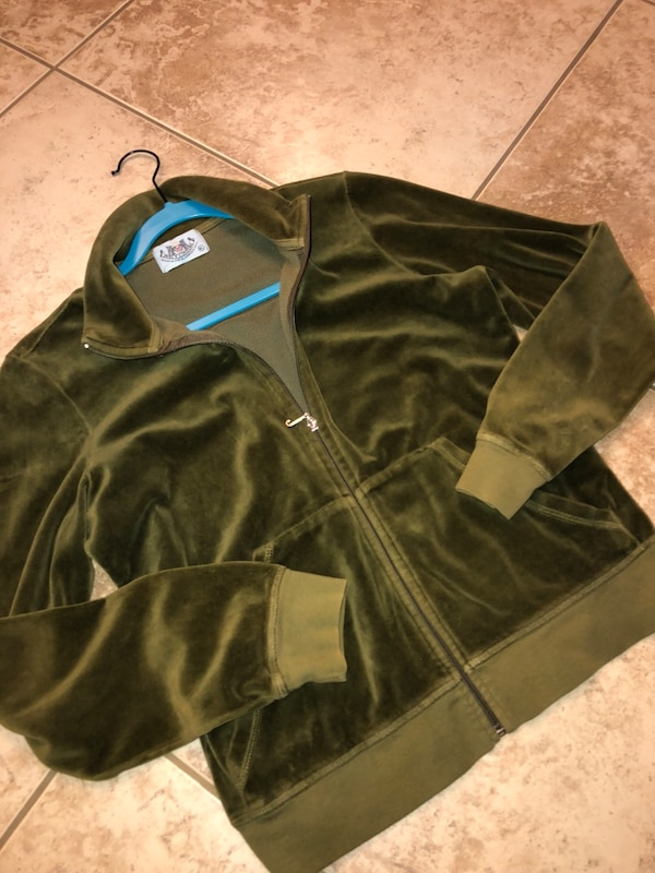 1f3ee2e31806d9 Used green suede full zip jacket for sale in Modesto - letgo