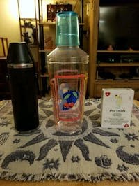 Stainless steel bottle, measures, solitaire card