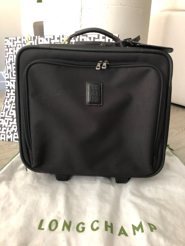 Longchamp Boxford Black trolley Carry On Luggage cbe85178-b909-4f08-9d93-bc1db845d43f