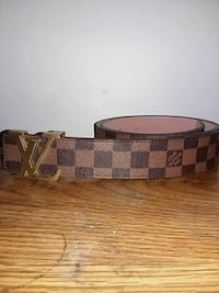 brown and black Louis Vuitton leather belt Surrey, V3S 1S2