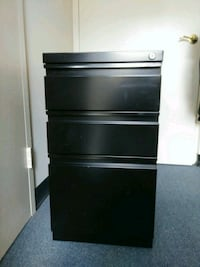 Locking 3-Drawer Metal File Cabinet Washington, 20037