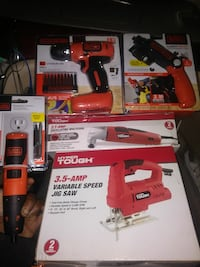 assorted black-and-red Black + Decker power tool b