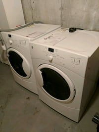 GE white front-load clothes washer and dryer set Ottawa, K4A 4R7