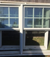 2 used double hung windows Farmingdale, 11735