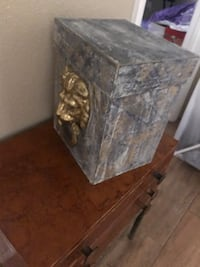 Old books and cute lion box