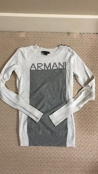 White armani sweater
