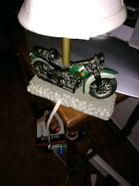 white and black table lamp 2413 mi