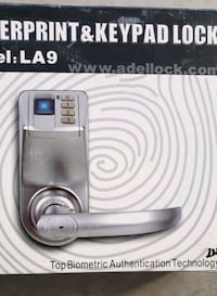 Adele finger print and  Keypad lock commercial gra