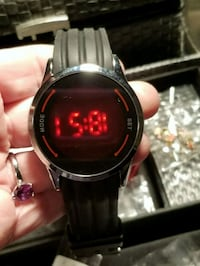 Mans or womens black touch screen watch.