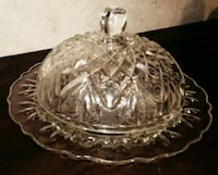 Vintage  Clear Glass Round Dome Lid Butter  Dish  Livingston, 70754