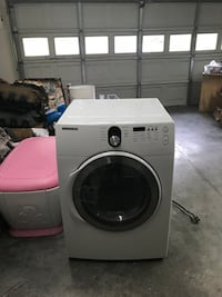 White front-load clothes washer Fayetteville, 28304