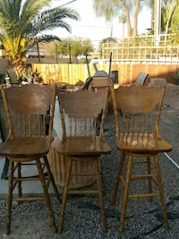 two brown wooden windsor chairs Henderson, 89014