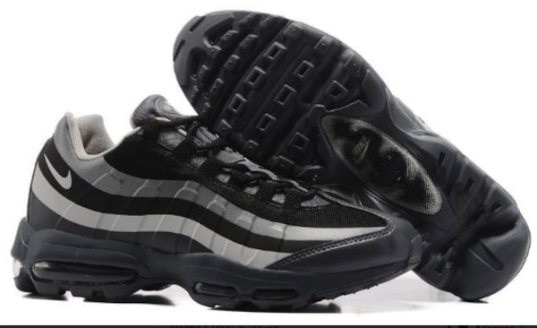 Cheap Mens Nike Air Max 95 Black Wolf Grey JD Sports For Sale