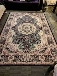 brown and black floral area rug Mississauga, L4X 2J4