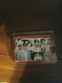 car racer trading card
