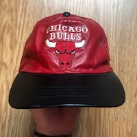 Chicago Bulls 90s Leather Strapback Newmarket, L3Y 7T6