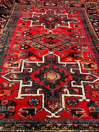 red, black, and white area rug Mississauga
