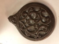 Antique Decorative Cast Iron Stove Cover Plate