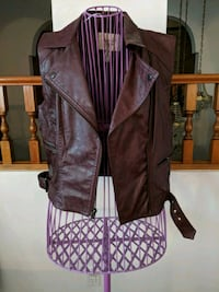 Dark Maroon pleather vest Vancouver, V5P 2A1