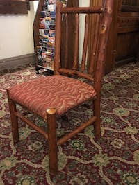 brown wooden framed brown padded chair Columbia, 21045