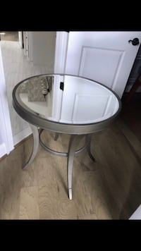 Two mirrored top side tables - accent tables / nightstands Aldie, 20105