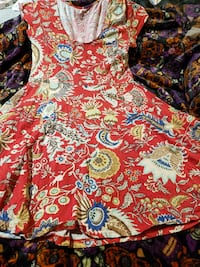 red floral chaps dress Portland