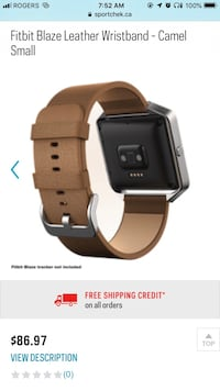 Fitbit blaze leather watch strap Toronto, M4W 3N5