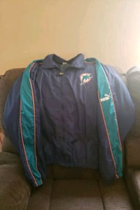 Official NFL Miami Dolphins Puma Wind breaker 2x