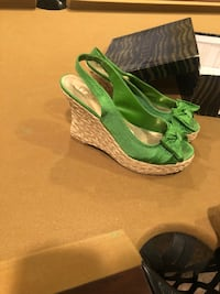 Moda size 9 green peep toe wedges Baltimore, 21220