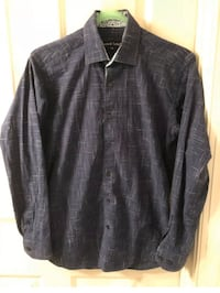 Jared Lang Dress Shirt  Small Men button front Blue and white Pattern  Washington, 20001