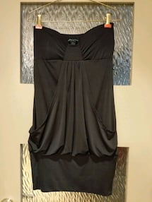 Black strapless dress with front pockets size small