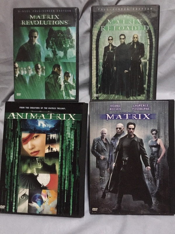 DVDs set of 4 cases