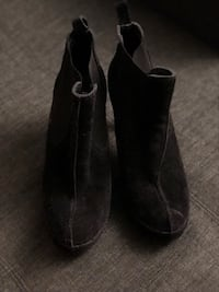 Pedro Garcia (Made in Spain) black suede heeled boots Toronto, M2K 2J9