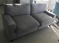 gray fabric 2-seat sofa White Plains, 20695