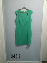 green sleeveless midi dress Portsmouth