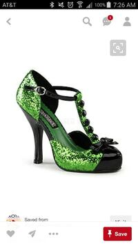 Funtasma Halloween Witch St. Pats Green Shoes