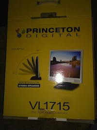 silver and black Princeton Digital flat panel display box