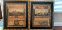 two brown wooden framed painting of flowers Danville, 94506