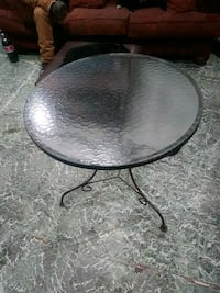 Small antique rod iron breakfast nook table