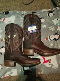 black leather cowboy boots Hastings, 68901
