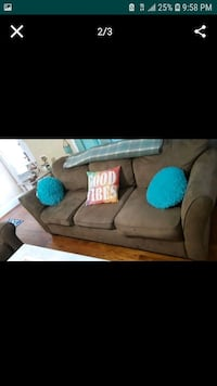 Brown microfiber couch  sofa Cookeville