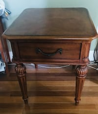 wooden side table with 1 drawer Bristow