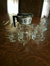 clear glass pitcher with 6 drinking glass cups  Amarillo, 79119