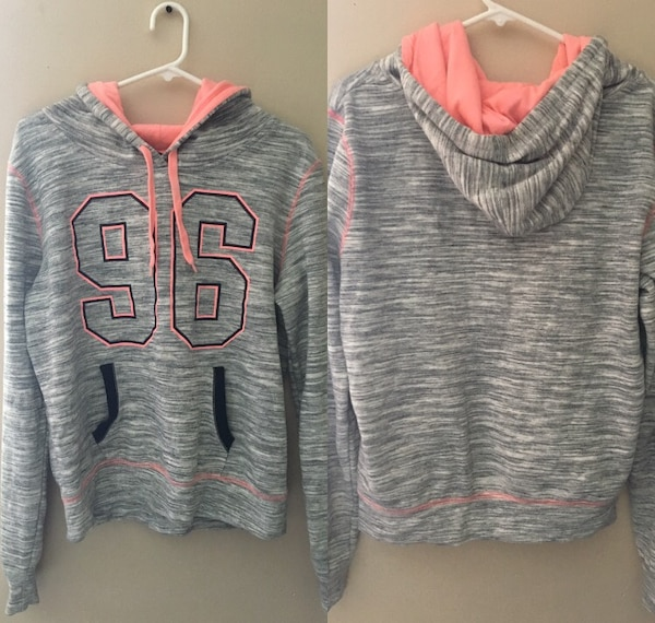 gray and pink Pink by Victoria's Secret jacket