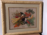 brown wooden framed painting of flowers Toronto